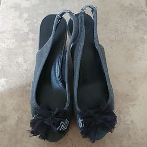 NY&C Black Wedges 9